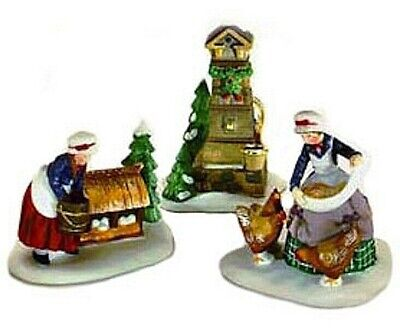 Department 56 New Orig Box III 3 French Hens 12 Days Dickens Village Heritage