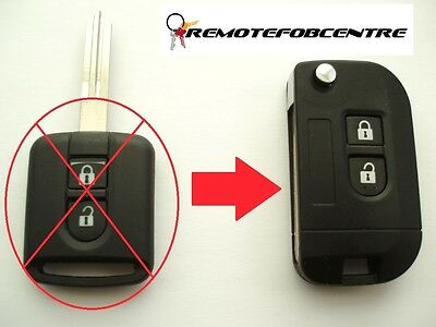 2 button flip key case upgrade for Nissan Micra Note Navara remote 4.5 CM