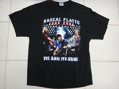 Rascal Flatts Me And My Gang 2006 North American Tour T Shirt~Size Adult M~VGC