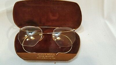 Vintage Baush & Lomb 1/10 12K Gold Filled Wire Rim Glasses, With Case