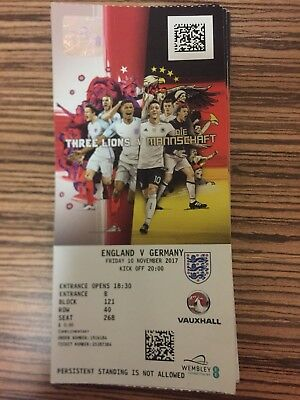 Ticket England-Deutschland Wembley 10.11.17 England -Germany Matchticket