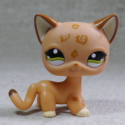 Kahki Spotted Short Hair Cat kitty 2800 Littlest Pet Shop LPS Action Figure