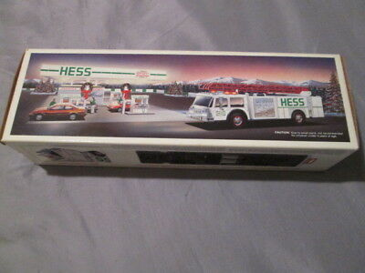 1989 Hess Truck New In Box Christmas Fire Truck