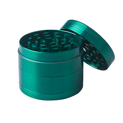 Green 4 Layers Metal Hand Muller Herb Spice Tobacco Grinder Crusher