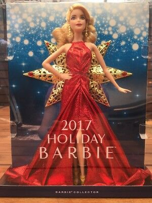 NEW 2017 Holiday Barbie Collection Blonde Hair Red Dress Christmas LAST ONE