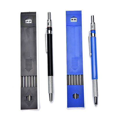 Refillable Automatic Pencil Mechanical For Drawing Drafting+12pcs 2MM 2B Leads