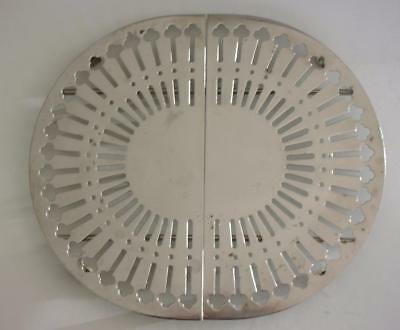 "Vintage Expandable Silverplate Metal Trivet Hot Plate Expands from 10"" - 13.5"""