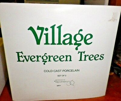 Department 56 - Evergreen Trees 3pc Set - New in Box - Cast Porcelain #5205-1