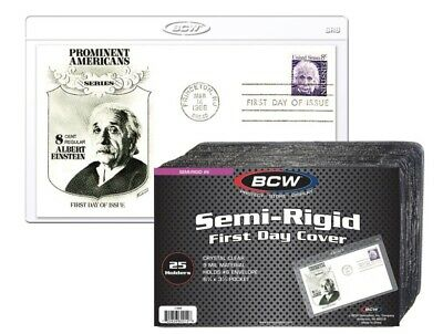 BCW 1 Pack of 25 Holders Semi-Rigid First Day Cover 6 3/4 x 3 7/8 (#CS150)