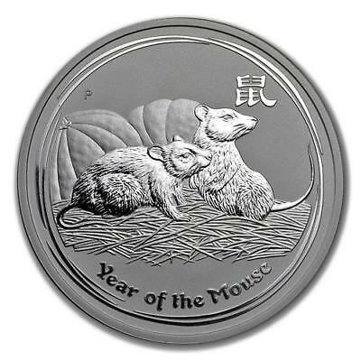 2008 2 oz Silver Perth Mint Lunar Year of the Mouse Coin KEY DATE