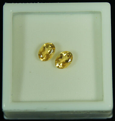 1.43ct Matched set of 5x7mm Natural Citrine Gemstones