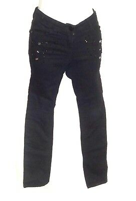 Next, Girls' Size: 10 Years [ 140cm Height  ] Black - Jean Trousers