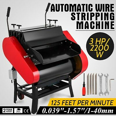 Automatic Wire Stripping Machine with Foot Pedal Cable Stripping Scissor Metal
