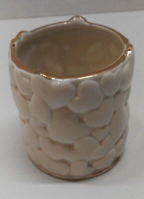 Lenox Heart China Tea Light Votive Candle Holder w/24K Gold Trim