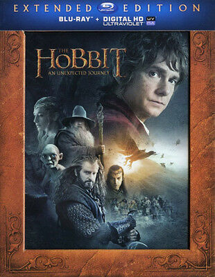 The Hobbit: An Unexpected Journey (3 Disc, Extended Edition) BLU-RAY NEW