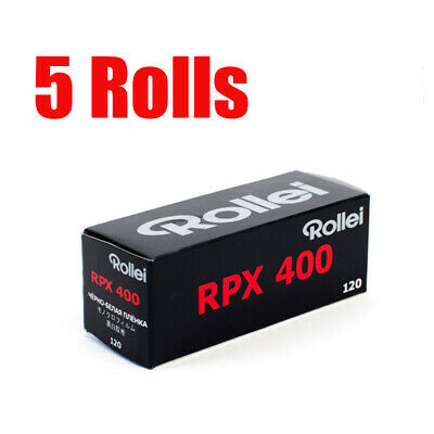 5 Rolls Rollei RPX400 120 Middle Format Black&White Film Fresh 2022
