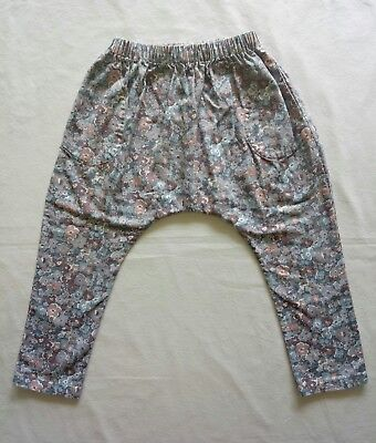 Printe Bebe Girls Pants Size 4 Blue Grey Pink Floral Beautiful High Quality