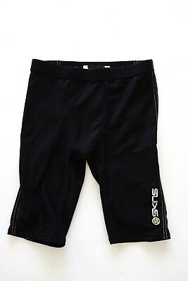 skins a400 black compression shorts…size yl (youth large)…vgc...
