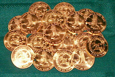 5 Vintage Tony Lama Boots Medallion-Boot Pull Tokens Coins Uncirculated MINT! Te