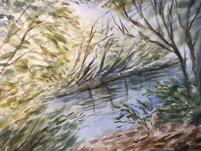 watercolour river scene this is an original painting size A 3. It has no mount