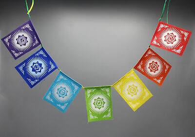 Seven Chakra  For Mind Body and Soul Balance   Cotton Prayer Flags