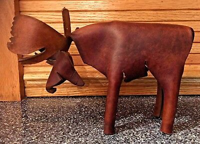 Leather MOOSE handcrafted in Minnesota Great Gift !!