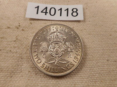 1945 Great Britain Two Shillings - Collector Coin - # 140118 - Graffiti Obverse