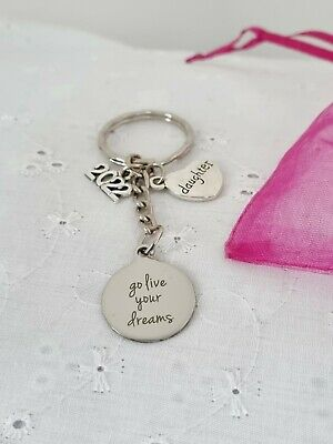 DAUGHTER GRADUATION 2020 GO LIVE YOUR DREAMS KEYRING IN A LOVELY GIFT BOX