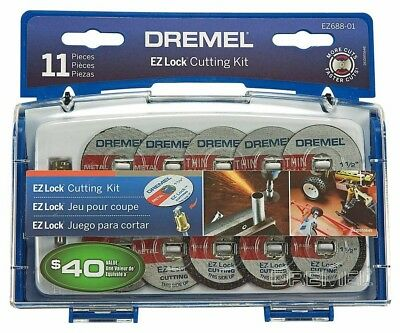 Dremel Ez Lock Cut Off Wheel Set Metal Plastic 11 Piece Round