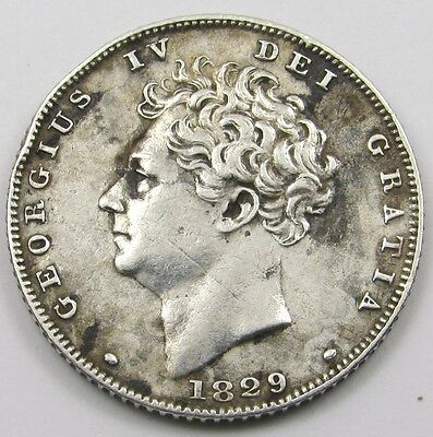 KING GEORGE IV  SILVER SIXPENCE COIN dated 1829
