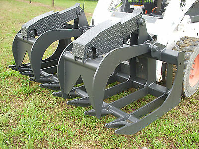 "Bobcat Skid Steer Attachment - 72"" Severe Duty Root Grapple Bucket - Ship $199"