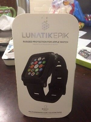 Lunatik Epik EPIK-001 Rugged Case + Silicone Band Apple Watch 42mm - Black