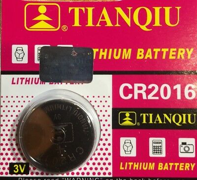 1 -CR2016 DL2016 BR 2016 Tianqiu Lithium Battery 3V Remote Ships From USA