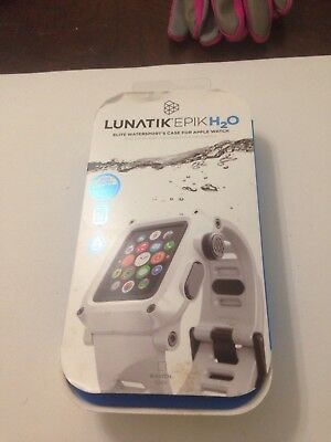 LUNATIK - EPIK H20 Case and Band for Apple Watch 42mm - White, used