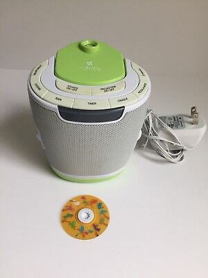 MyBaby Soundspa Lullaby Sound Machine Projector Homedics Baby - TESTED WORKS!