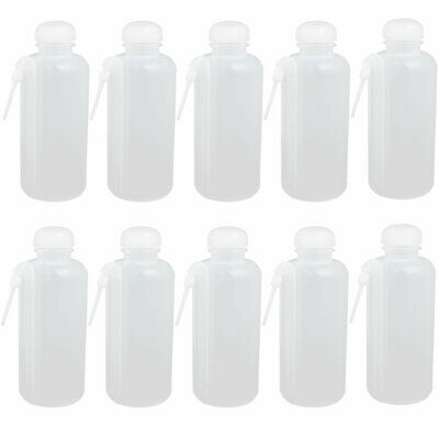 20f160ee64ea LABORATORY PLASTIC CYLINDRICAL 500ml Capacity Squeeze Bottle Red Cap ...