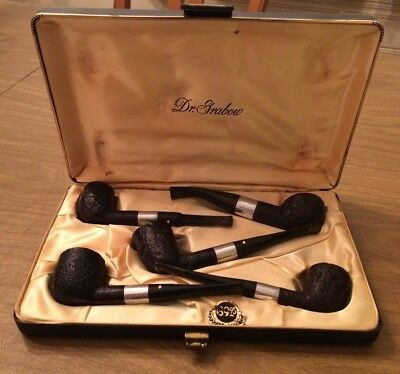 Estate Vintage 50's 60's Dr. Graybow Boxed Set Smoking Pipe Lot of 5