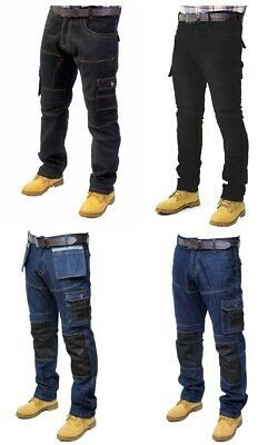 Mens Work Trousers Cargo Combat Working Jeans WT-02