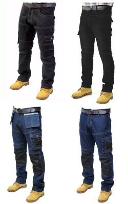 Prime Mens Work Trousers Cargo Combat Working Jeans WT-02