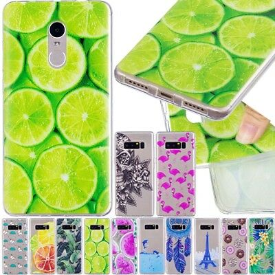 New Pattern Slim Clear Soft Silicone TPU Rubber Gel Back Case Cover For Samsung