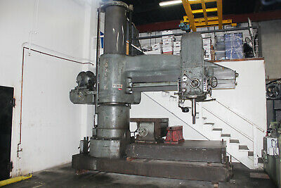 "8' Arm x 26"" Column Carlton Radial Arm Drill Traveling Head Drill Hole Milling"