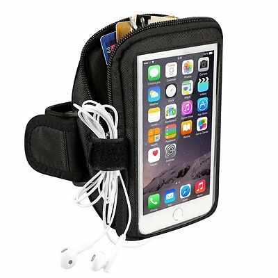 Sports Running Workout Exercise Smartphone Armband with Key Holder & Card Pouch.
