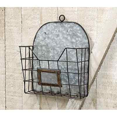 New French Country Chic Vintage Style Mail Box File Letter Holder Wall Bin