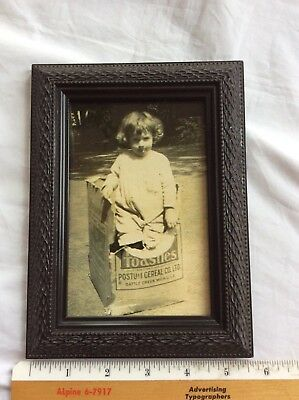 Vtg Photo Framed Toasties Postum Cereal Co. Ltd Ad from Fitzgerald family Estate