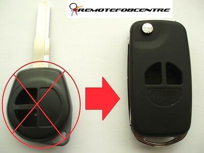 2 button flip key case upgrade for Suzuki Swift Grand Vitara Alto Jimny remote