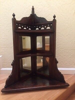 Antique 1930's Victorian Oak Corner Piece