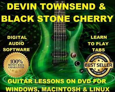 Devin Townsend 132 & Black Stone Cherry 89 Guitar Tabs Software Lesson CD 6 BTs