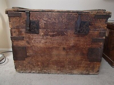 HUGE Antique Wood Trunk from Southwest