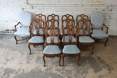Set of Twelve French Provincial Dining Chairs by Baker Furniture