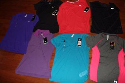Lot Of 7 Nike & Under Armour Womens Shirts Golf Polo Cool Switch $200+ Small Nwt